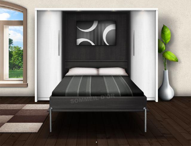 Ko35 lit escamotable lit escamotable - Lit escamotable mural ...